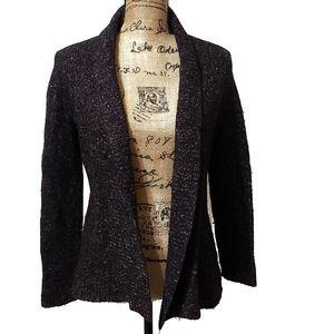 Talbots Wool Silk Open Front Cardigan